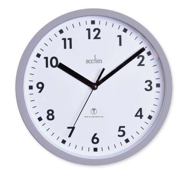 Acctim 74667 Nardo Radio Controlled Grey Wall Clock 20cm Diameter
