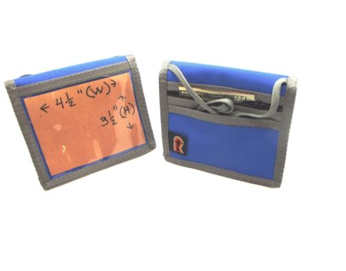 Made in USA Rainbow of California Bifold Neck ID Wallet w//Zipper Water Resistant