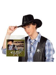 """Set """"cowboy"""" Kette Und Sheriff Stern Party Kostüm Accessoires FöRderung Der Produktion Von KöRperflüSsigkeit Und Speichel"""