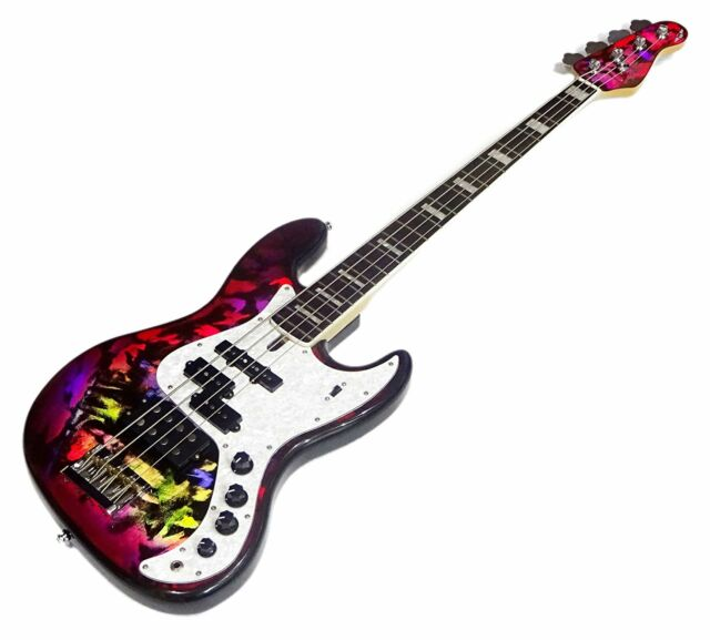 Spear Guitar Gae Bolg Jazz Bass Type Hologram Pink Free Shipping For Sale Online