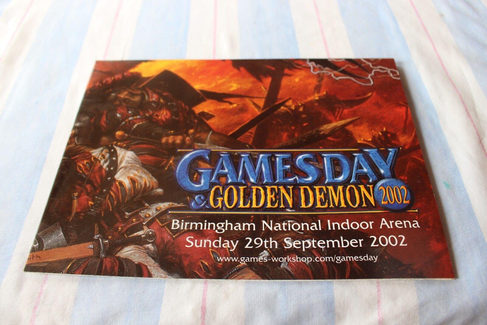 Games Workshop golden Demon 2002 Poster Chaos Warriors Predator Tank New Mint