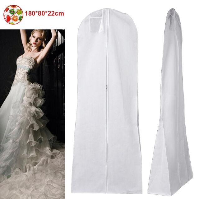 Garment Dress Cover Long Bridal Wedding Dresses Gown Zip Clothes Storage Bag UK