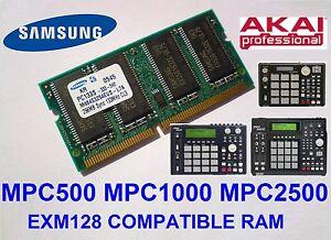 Akai-MPC2500-MPC1000-MPC500-Memory-Ram-Compatible-EXM128-EXM-128-SPEICHER