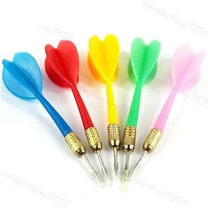 10PCS-Color-Wing-Plastic-Darts-Needle-Kid-Tone-Dart-Steel-Brass-Throwing-Tip-Toy