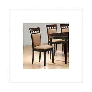 Coaster Cushion Back Dining Chairs Cappuccino Set Of 2