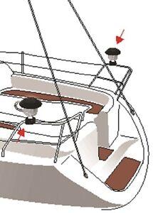 solar relingleuchte feu de mouillage lampe solaire pour tuyaux caravane bateau ebay. Black Bedroom Furniture Sets. Home Design Ideas