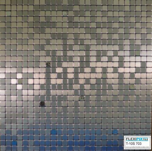 SILVER SPOON FLEXIPIXTILE-Aluminum Peel /& Stick Mosaic Tile Kitchen Backsplash