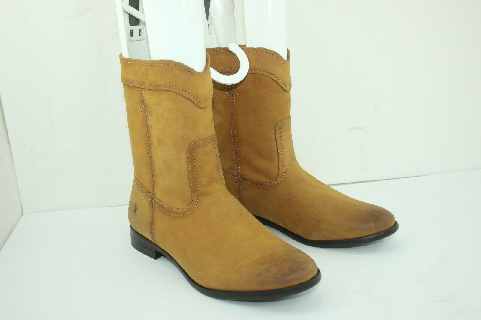 Frye Cara Roper Short Riding Boots SZ 8.5Womens Leather Cowboy Round Toe Cognac2