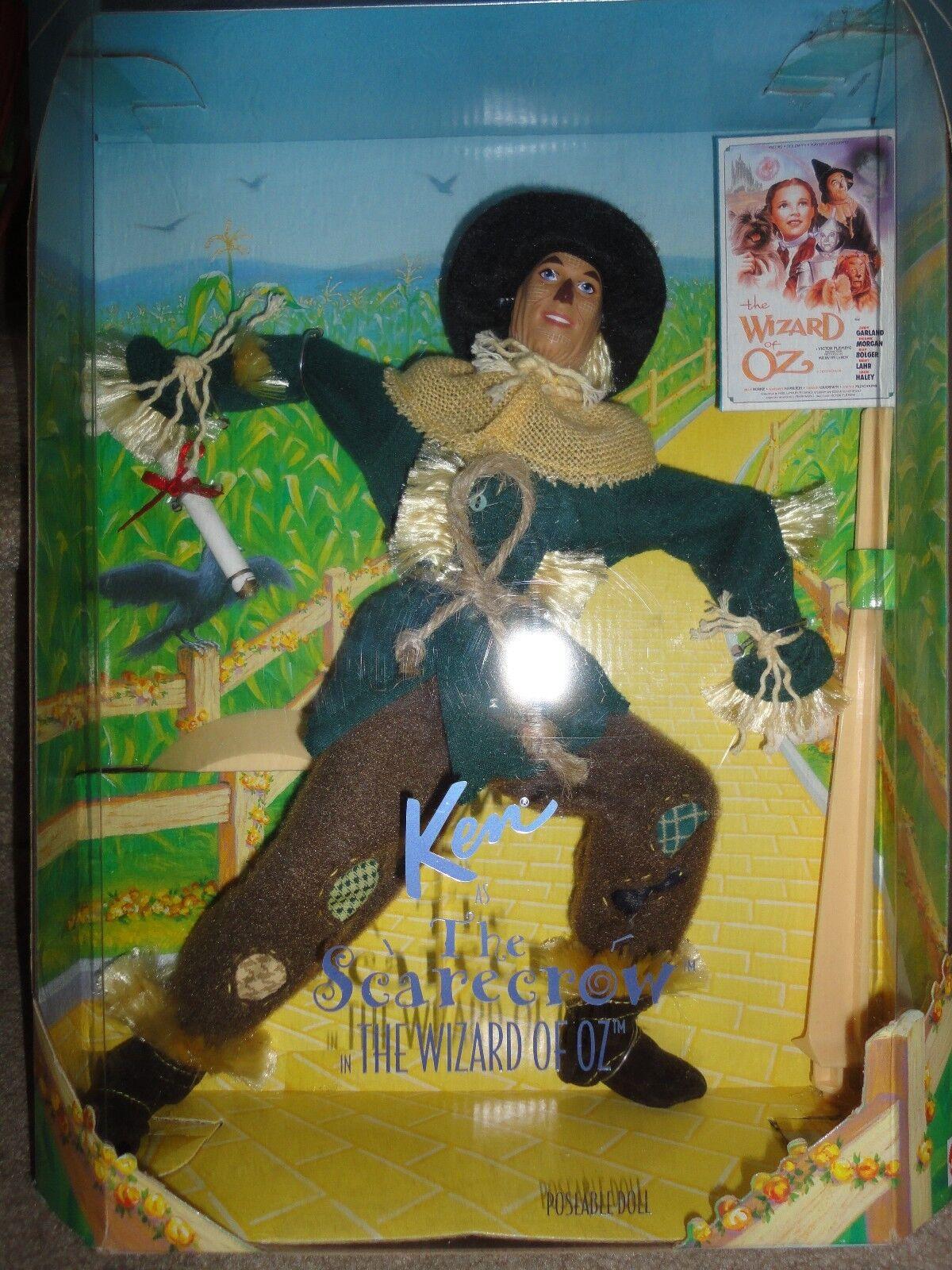 Hollywood Legends Mago De Oz Espantapájaros Muñeca Barbie nunca quitado de la caja en caja como nuevo