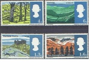 Great-Britain-1966-LANDSCAPES-4-SG-689-692-Unhinged-Mint