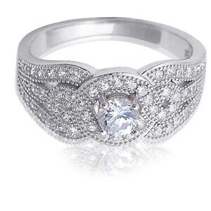 Imitacion-Diamante-Brillante-Micropave-Halo-Plata-de-Ley-Anillo-de-Compromiso