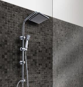 Grafner-Duschgarnitur-Duschstange-Handbrause-Duscharmatur-Regendusche-Duschset