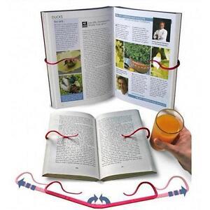 New Adjustable Book Holder Reading Bookends Folding Bookrest Bookstand Rack LJ