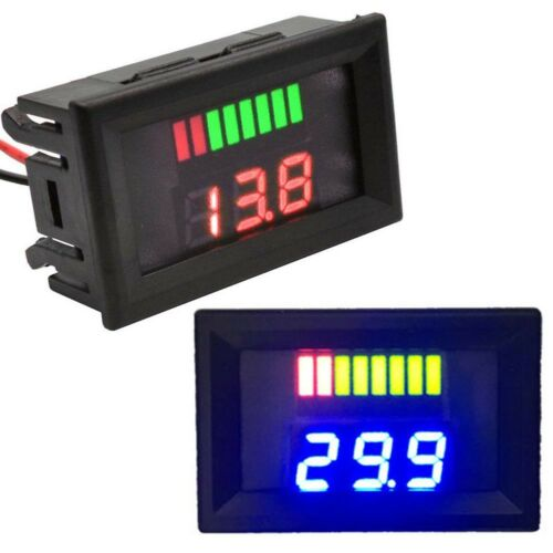 Blei Säure Batterie Indikator Intuitive Spannung Anzeige LED Display Meter 5-70V