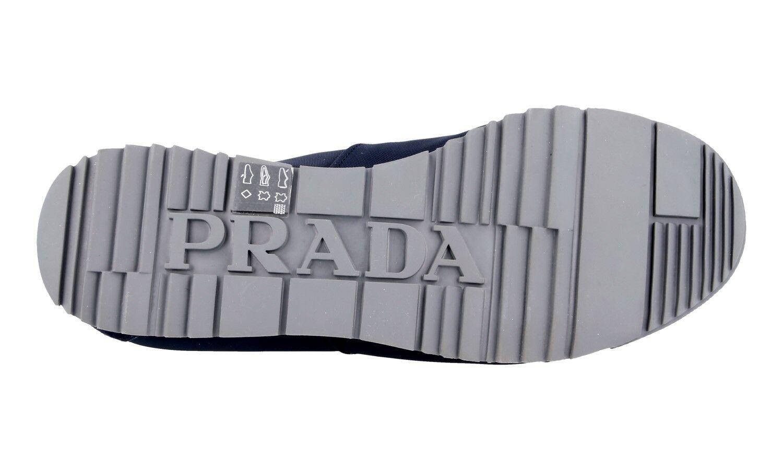 LUXUS PRADA SNEAKER SCHUHE 4E2834 BLAU WILDLEDER 41 NYLON NEU NEW 7 41 WILDLEDER 41,5 4d9e2f