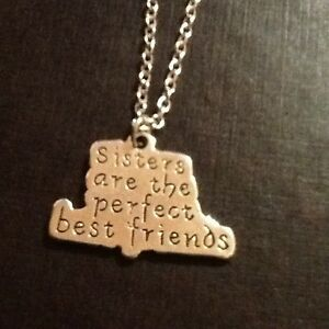 Sisters are the perfect best friends necklace silver plated - Stoke-on-Trent, United Kingdom - Sisters are the perfect best friends necklace silver plated - Stoke-on-Trent, United Kingdom