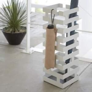Yamazaki-Umbrella-Stand-Metal-Umbrella-Holder-Modern-Design-White