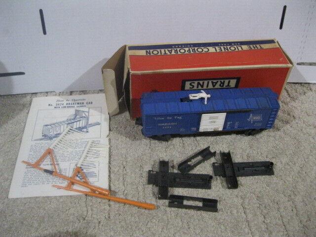 Lionel 3424 operativo Uomo Del Freno Auto con poli nella scatola originale