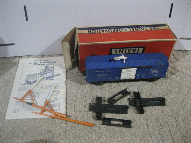 Lionel 3424 Operating Operating Operating Brake uomo auto with Poles in Original scatola 22ede9