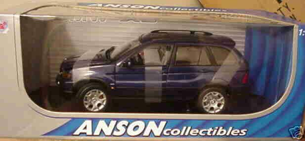 2000 BMW X-5 SUV Metálico Oscuro blu 1 18 30385 Anson
