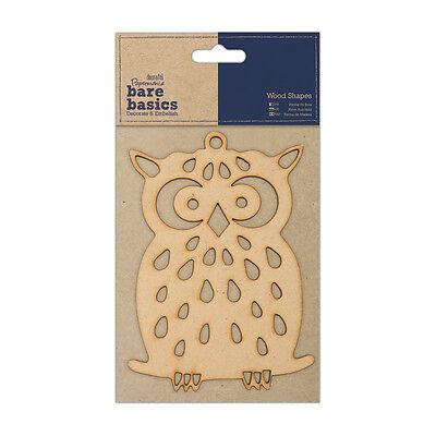 "7x10cm Docrafts Papermania wood craft embellishment Bare basics wooden Owl 3x4/"""