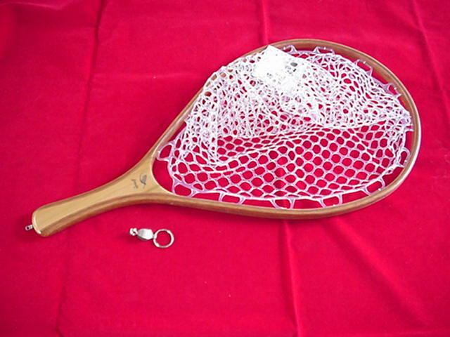 Brodin Wood Landing Net Cutthroat Ghost with Clear Clear with Rubber Bag NEW 08b7c6