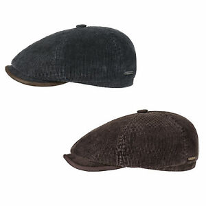 a1e683d34 Details about Stetson Cotton Corduroy Bakerboy/Newsboy Cap in Brown or Blue  (6651104)