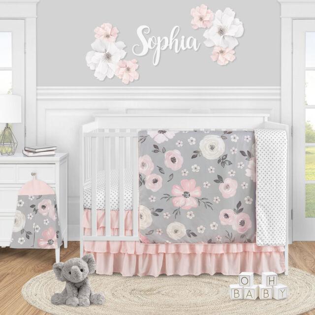 Boho Aztec Blush Pink Gold Grey Baby, Blush Pink Baby Bedding