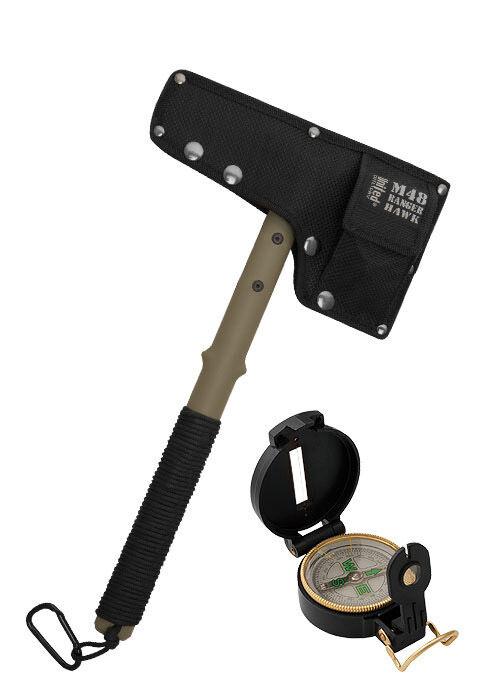 United cutlery uc2836 m48 ranger Hawk boussole Hachette avec boussole Hawk campingaxt hache 38,1cm 98a143