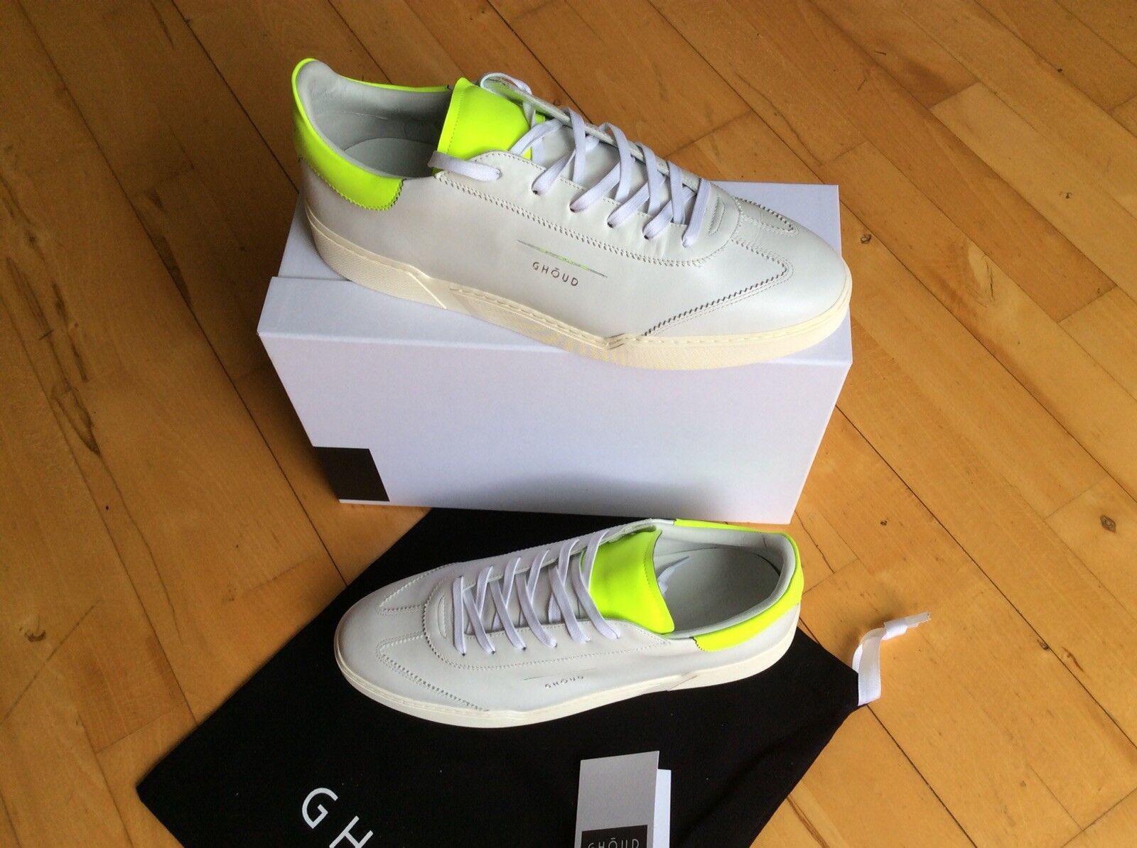 GHOUD VENICE Sneaker weiss/fluo yellow Gr. 45 *neu* Schuh
