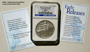 2007-W-Burnished-1-Silver-American-Eagle-NGC-MS69-Early-Release