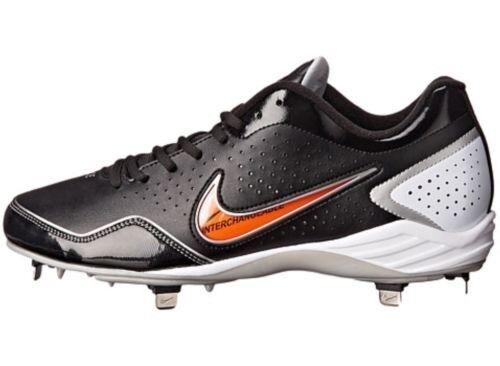 Nike Men's Gamer Conversion Metal Baseball Cleats 469728-011 Black/White Comfortable