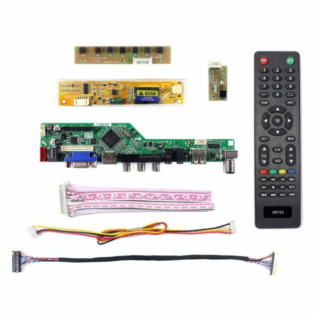 HDMI+VGA+AV IR Controller Driver Board DIY kit for LCD Panel LTN154AT07 1280X800