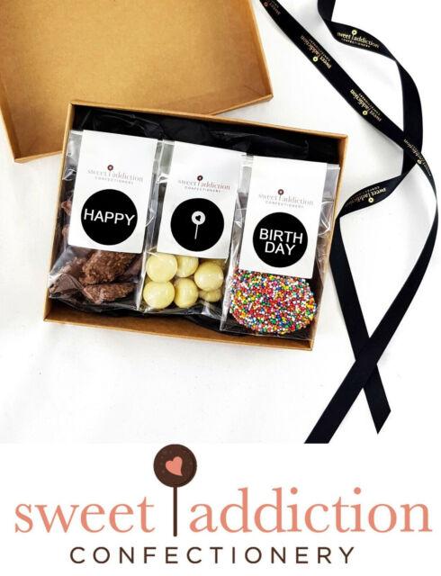 Sweet Addiction Premium Chocolate Birthday Gift Hamper Box - Happy Birthday