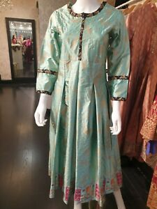 Indian-Pakistani-Shalwar-Kameez-Salwar-Saree-Suit-Dress-Wedding-Designer-Blue