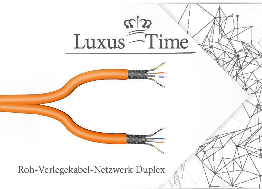 CAT7 LAN Kabel Ethernet Duplex Kabel 10m 50m 100m STP 2X4X2XAWG23 PIMF FRNC