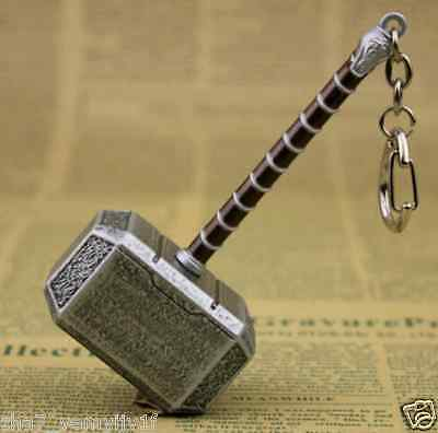 Hot Key chain sale Hammer of Thor Movie props Viking Norse God of Thunder Toy