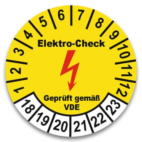 Prüfplakette nächster Elektro-Check E-Check 2017-22 Plakette 30mm nach VDE