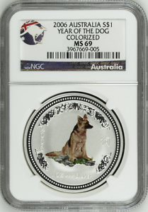 2006-NGC-MS69-Australia-1-Oz-Silver-Lunar-Colorized-Dog-1-Coin-Bullion