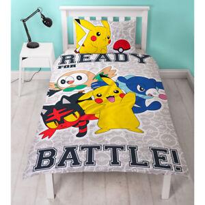 Pokemon-034-Laredo-034-Linge-de-lit-135-x-200-Ensemble-Set-Enfants-Pikachu-Neuf