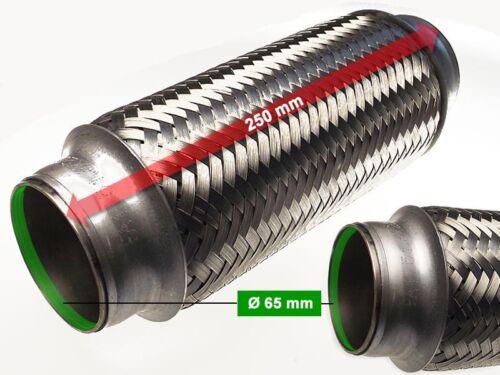 Escape flexrohr pantalones tubo catalizador Ø 65 x 250 longitud mm