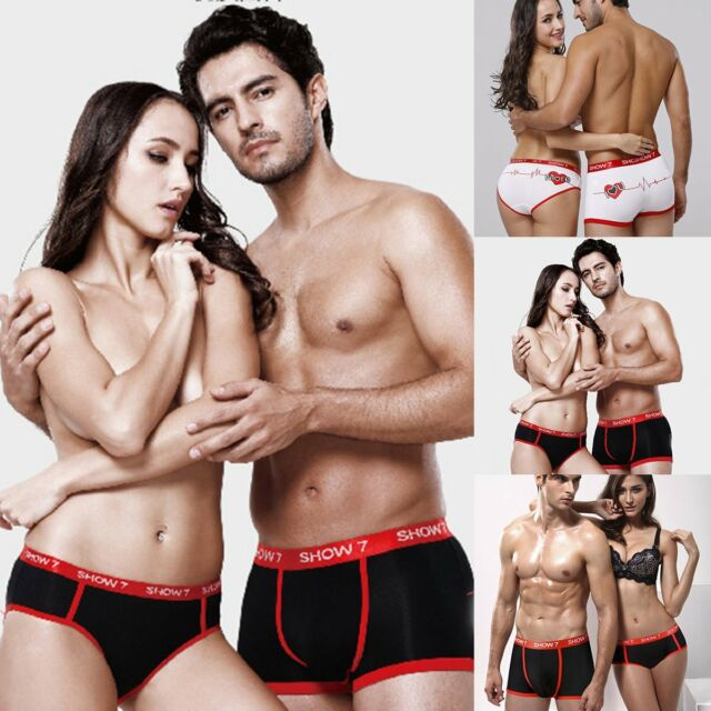 Lovers Couple Knickers Underwear Boxers Shorts Briefs Panties For Mens Womens