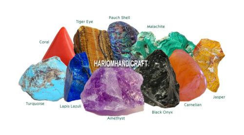 "12/""x9/""x3/"" Marble Malachite Semi Precious Stone Inlay Vanity Trinket Box Art Gift"