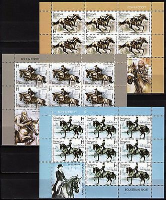 Belarus Bracing Up The Whole System And Strengthening It Reliable Belarus 2011 Sc775-77 $ 34 Mi865-67 34 Mieu 3 Ms Mnh Equestrian Sport