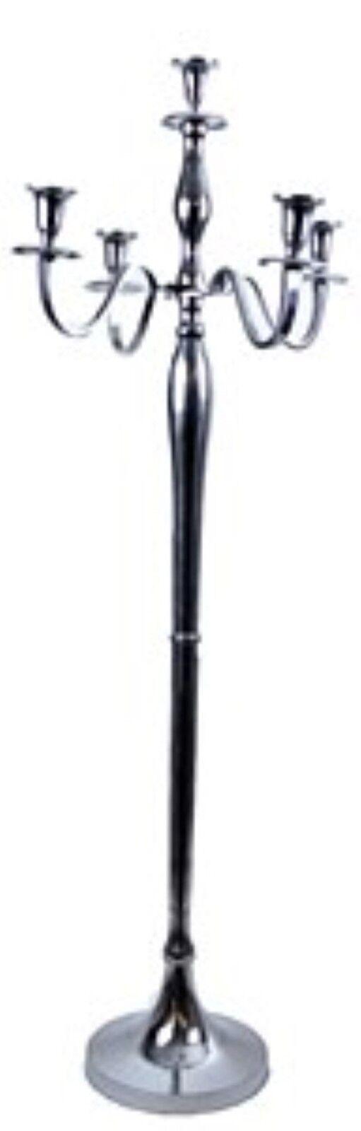 GIANT 120 cm Floor Standing Argent 5 Bras Candélabre Mariage Venue Décoration