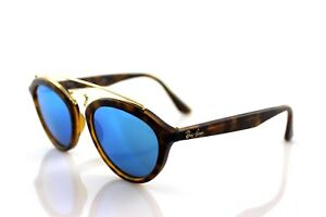 58ba04032ff NEW RAY-BAN GATSBY II SMALL Tortoise Blue Mirror Sunglasses RB 4257 ...