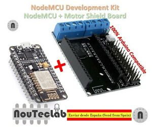 Details about NodeMCU + Motor Shield Development Kit WIFI ESP-12E ESP8266  esp 12E for Arduino