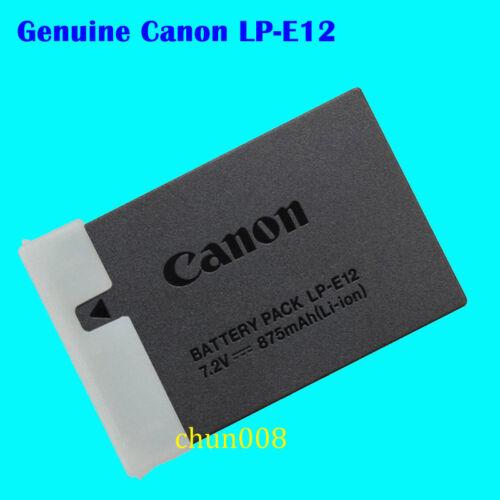 Genuine Canon LP-E12 batería para EOS-M M2 M10 M50 M100 M200 100D SX70HS Kiss X7