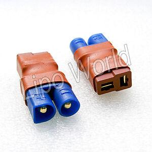 EC3-Stecker-auf-Deans-T-Buchse-Hochvoltstecker-Adapter-Lade-Kabel-LiPo-Akku