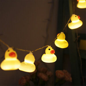 Cute-Little-Yellow-Duck-LED-String-Light-Xmas-Garden-Patio-Tree-Kids-Room-Decor